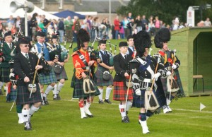 Highlands Games in Nairn in the Scottish Highlands