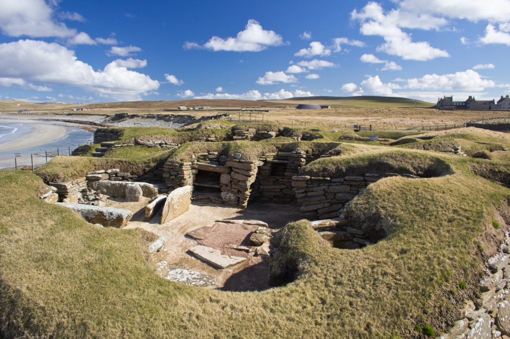 Skara Brae, Orkney, Scotland. Neolithic settlement, thought to be around 5500 years old and is a designated World Heritage Site.