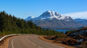 On the A832 with Slioch in the background